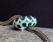 MagdalenaRuiz handmade european charm. Lampwork bead, big hole.