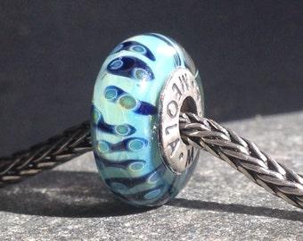 Meola handmade european charm. Lampwork with silver.