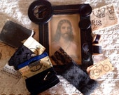 VINTAGE BLACK COLLECTION - Collage - Assemblage - French Inspired Spiritual Vignette
