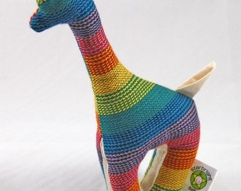 Wrap Scrap Teething Giraffe - Lenny Lamb Rainbow
