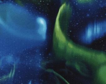 Aurora Borealis Green Timeless Treasures Fabric 1 yard