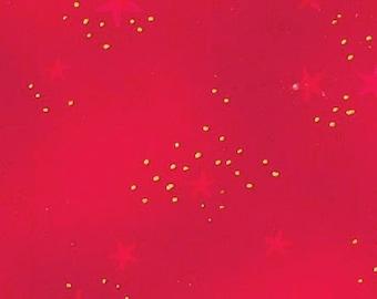 Laurel Burch Stars Red Basic Glitter Fabric 1 Yard