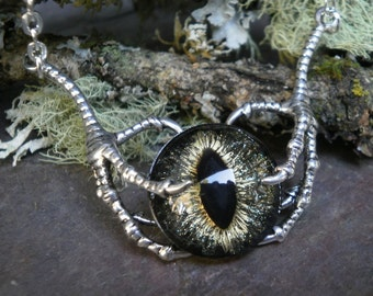 Gothic Steampunk Raven Claw With Galaxy Eye