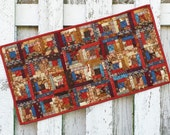 Quilted Log Cabin Table Runner (EDTR38)