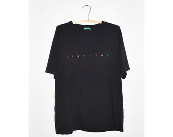1990s Black United Colors of Benetton Tshirt
