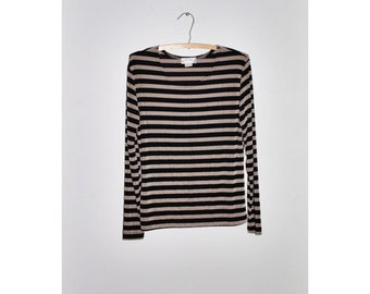 1990s Striped Slinky Top