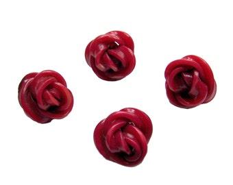 Vintage Rose Buttons 4 plastic buttons