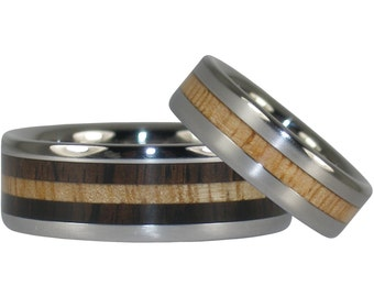 Blackwood and Mango Wood Ring Set
