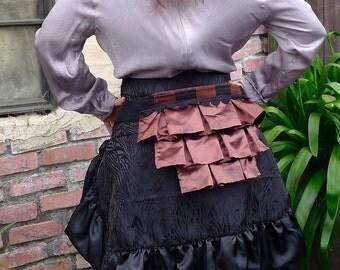 Brown and Black Steampunk Bustle Bag Belt