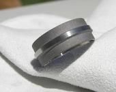 Titanium Ring or Wedding Band Mens Ring