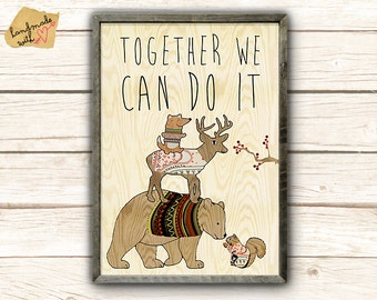 Together we can do it - teamwork Collage