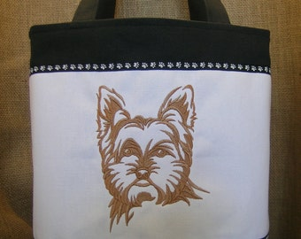 YorkshireTerrier, Yorkie,  Embroidered Tote Bag