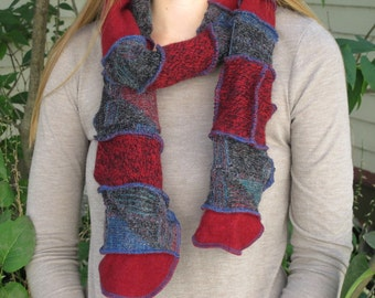 Patchwork Scarf - Upcycled and Eco Friendly
