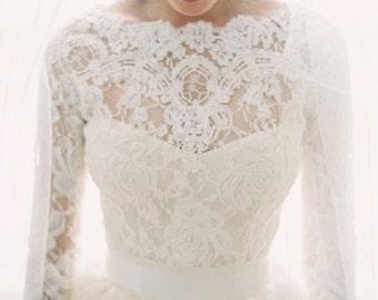 Featured in the Style Me Pretty Fashion & Beauty Magazine 2013 bridal lace top bridal lace bolero