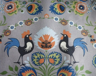 Half Yard - Rooster Damask - Japanese fabric NEW