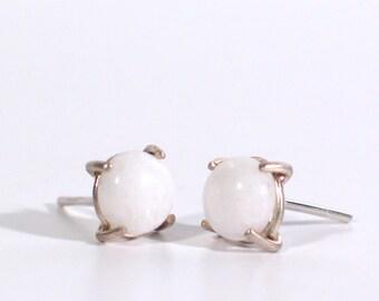 White Quartzite Earrings