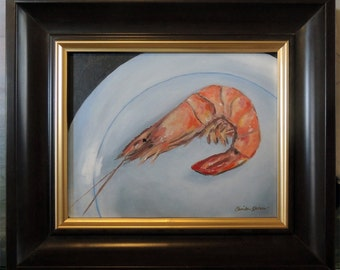 Shrimp on a plate Painting