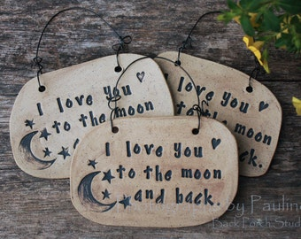 I Love You To The Moon Wall Art, Wall Plaque, Signage