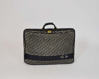 70s dior bag / Vintage 1970s Christian Dior Logo Suitcase Luggage