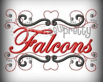 Falcons Pride Embroidery Design