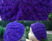 Purple Heather Hat & Mittens