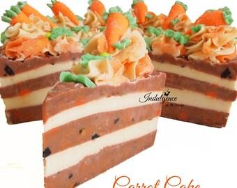 Carrot Cake Handmade Artisan Vegan Soap Cake Slice, handmade soap, cold process soap, soap cake, cake soap