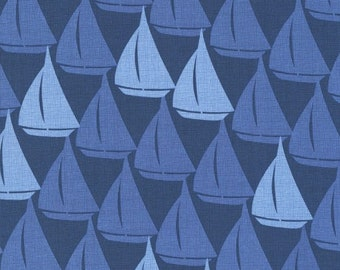 RJR Splash 2214 01 Blue Sailboats By The Yard