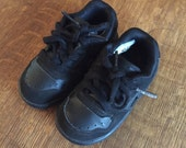Vintage Nike Toddler Air Delta Force Black Leather Sneakers Shoes size 6