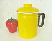 Yellow Enamelware Coffee Pot Enamel Kettle