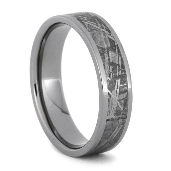 Mens Meteorite Wedding Band Mens Wedding Ring Womans Wedding