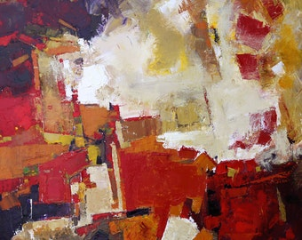 """MODERN ABSTRACT PAINTING """"Confetti"""" Original Art  Acrylic on 30"""" x 30 canvas Direct from the studio  by Elizabeth Chapman"""