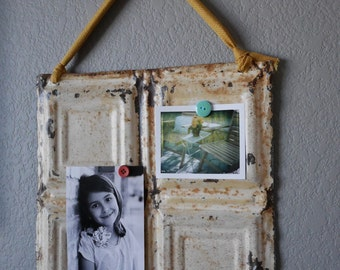 Magnetic Memo Board / Antique Ceiling Tin