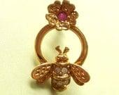 vintage AVON single bee earring UPCYLE or WEAR