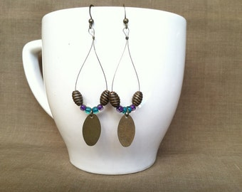 Buzzing Bronze... Extreme Decaf Earrings .. FREE U.S. SHIPPING