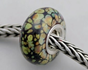 Raku Mosaic Bead  - Troll / Bracelet Bead (FEB-65)