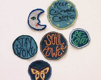 Custom Denim Patch - Your Own Personal Mantra on a Patch!