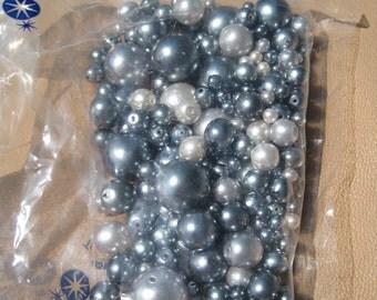 Preciosa glass pearl mix - Monochrome Grey
