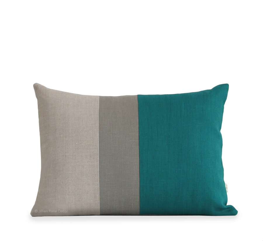 Decorative Pillows Biscay Bay Jewel Tone Colorblock Pillow