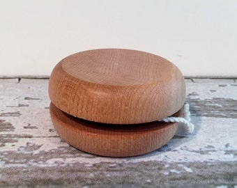 Toy Wooden Yo-Yo Natural Wood with Mineral Oil applied - Handcrafted Natural Wood Toy Balanced Yo-Yo