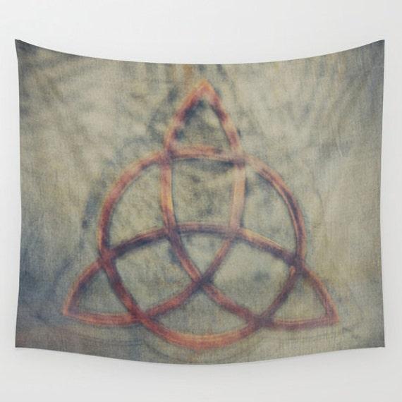 Trinity Code Wall Tapestry, Celtic Symbol Tapestry, Magic Home Decor, Triangle Tapestry, Wall Tapestry, Enlightenment, Dorm,Sign,Ancient