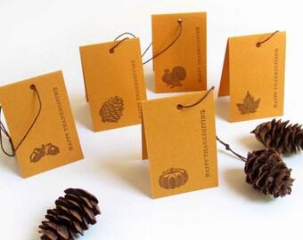Folded mini gift tags, set of 10, Fall