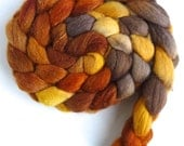 Polwarth/Silk Roving - Handpainted Spinning or Felting Fiber, Honeybee
