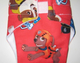 Baby Doll Diaper-Paw Patrol-Fits Bitty Baby, Baby Alive, Cabbage Patch, American Girl Dolls and More