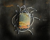 Last Minute Gift Ready to Ship Reeds at Sunset Cherry Creek Jasper Sterling Abstract Metal Art Natural Stone Statement Necklace Wife Mother