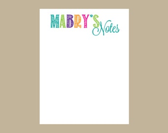 Personalized Notepad, Teacher Notes, teacher gift, Teacher notepad