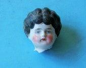 Antique German Doll Head Antique Frozen Charlotte German Doll Head Doll Parts Altered Art Jewelry Making Doll Head