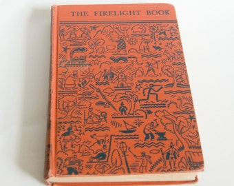 Vintage The Firelight Book Textbook Published in 1951 for California State by L. W. Singer Company