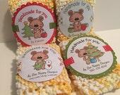PDF Personalized Printable Christmas Boppy Bear Circle Wrapper Set