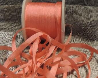 5 yards in 4mm silk ribbon Light Coral #J169