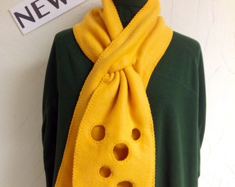Green Bay Packers Fleece Cheese Head Scarf - Free Shipping